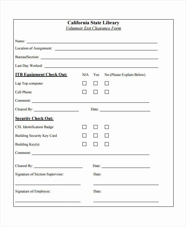 The Request Contains No Certificate Template Information Fresh Free 6 Sample Exit Clearance forms In Pdf
