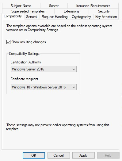 The Requested Certificate Template is Not Supported by This Ca Lovely Cannot Select Windows Server 2016 Ca Patible