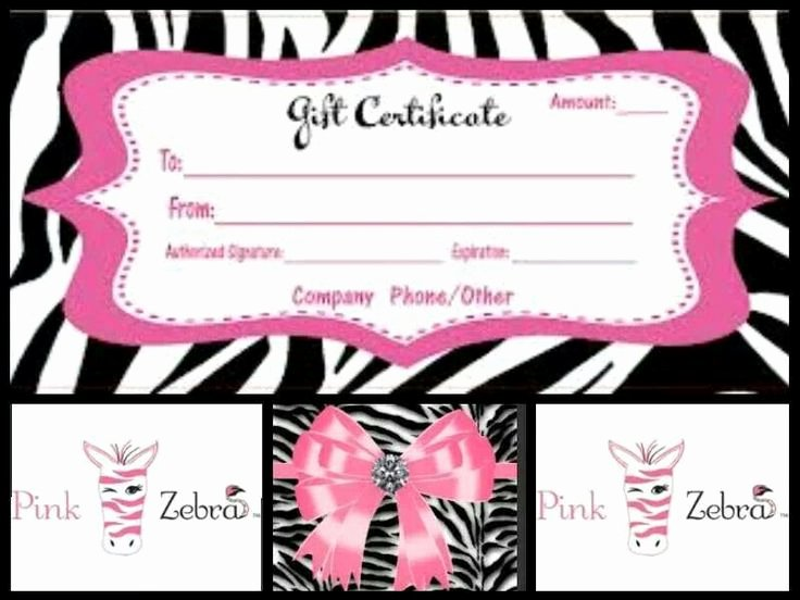 Thirty One Gift Certificate Template Beautiful Pink Zebra T Certificate