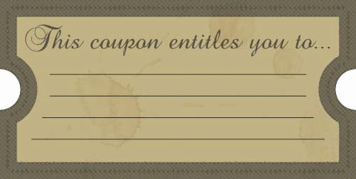 This Certificate Entitles the Bearer Unique This Coupon Entitles You to Free Printables Line