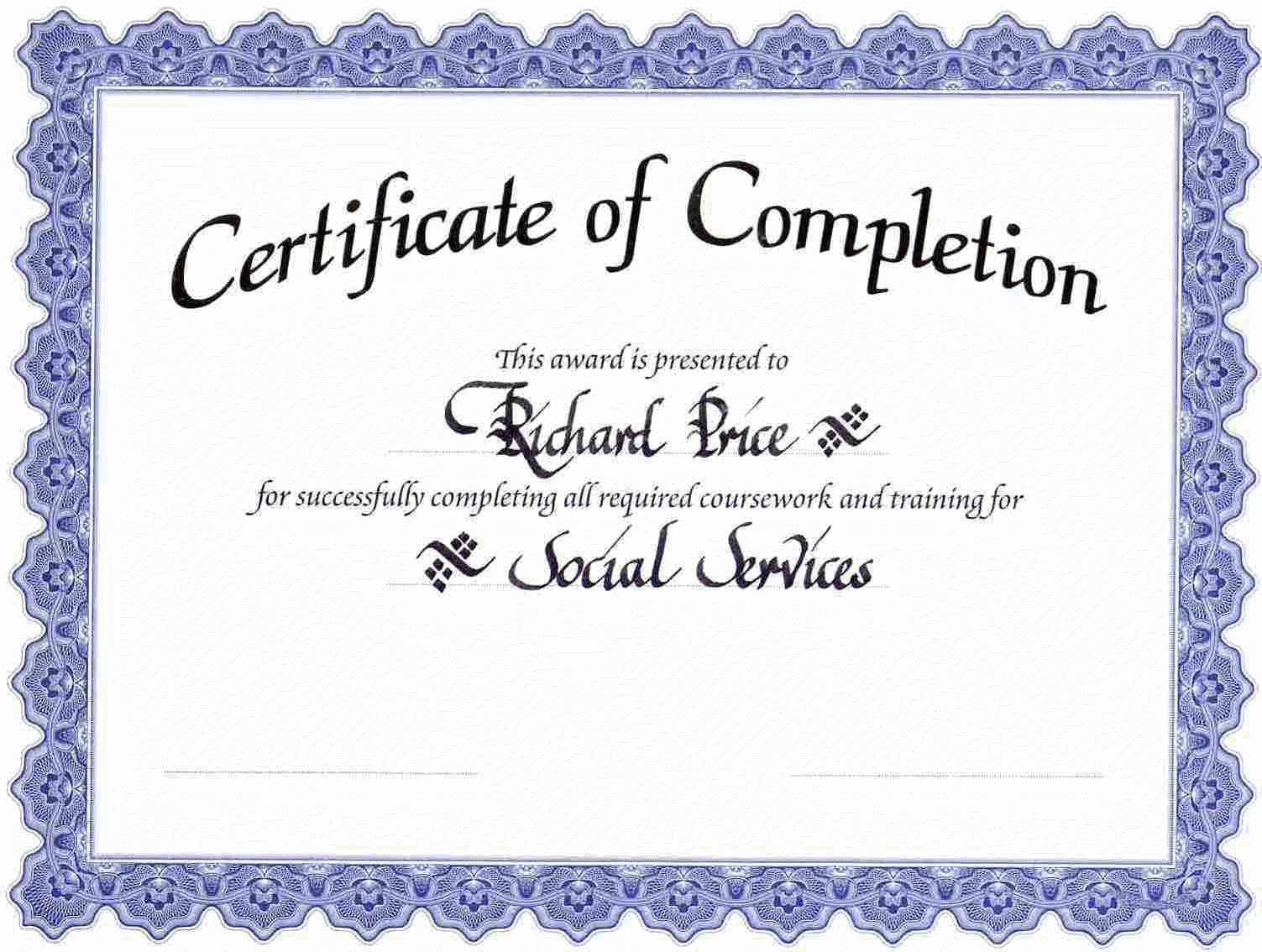 This Certificate is Awarded to Best Of Blank Award Certificate Templates