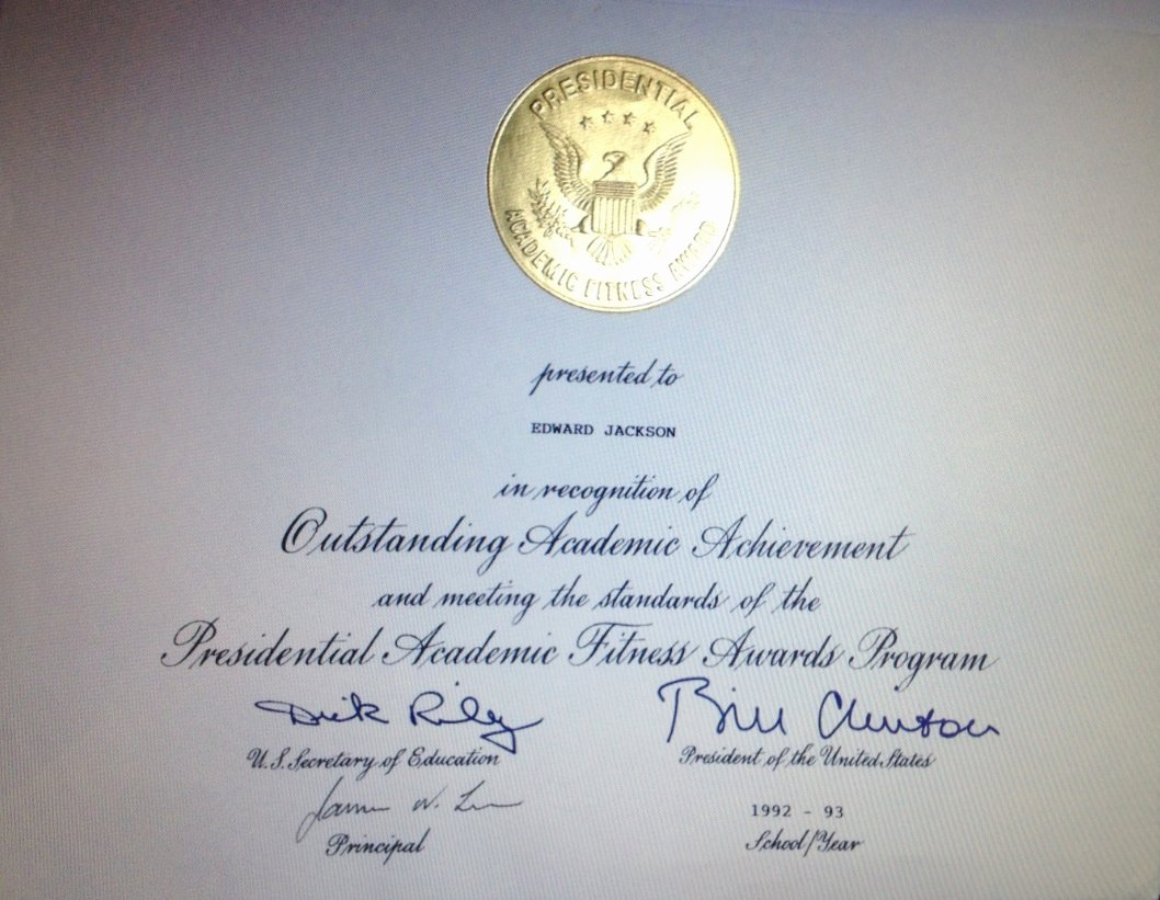 This Certificate is Awarded to Fresh Awarded Presidential Certificate