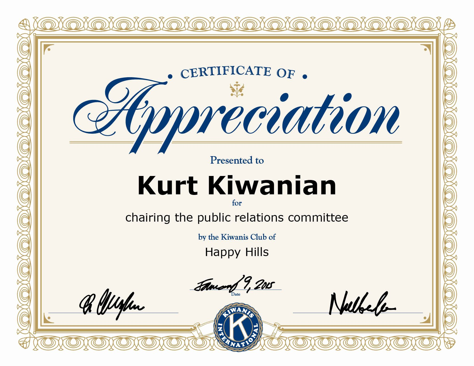 This Certificate is Awarded to Fresh Certificate Appreciation Template