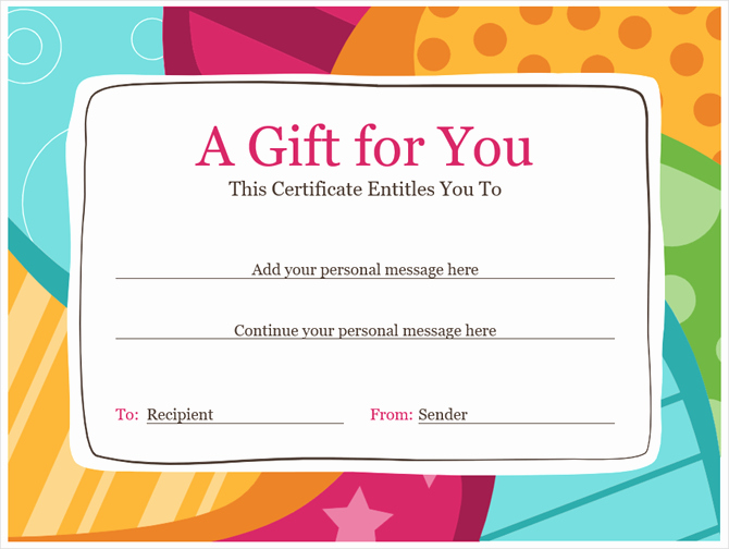 This Entitles the Bearer to Template Certificate Elegant Get A Free Gift Certificate Template for Microsoft Fice