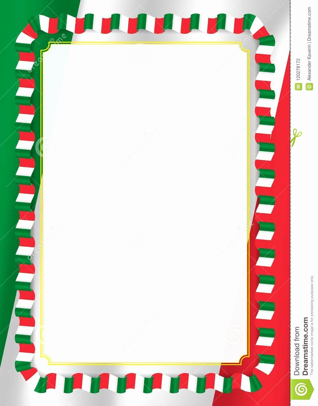 This Flag Was Flown Certificate Template Beautiful Frame and Border Ribbon with Italy Flag Template
