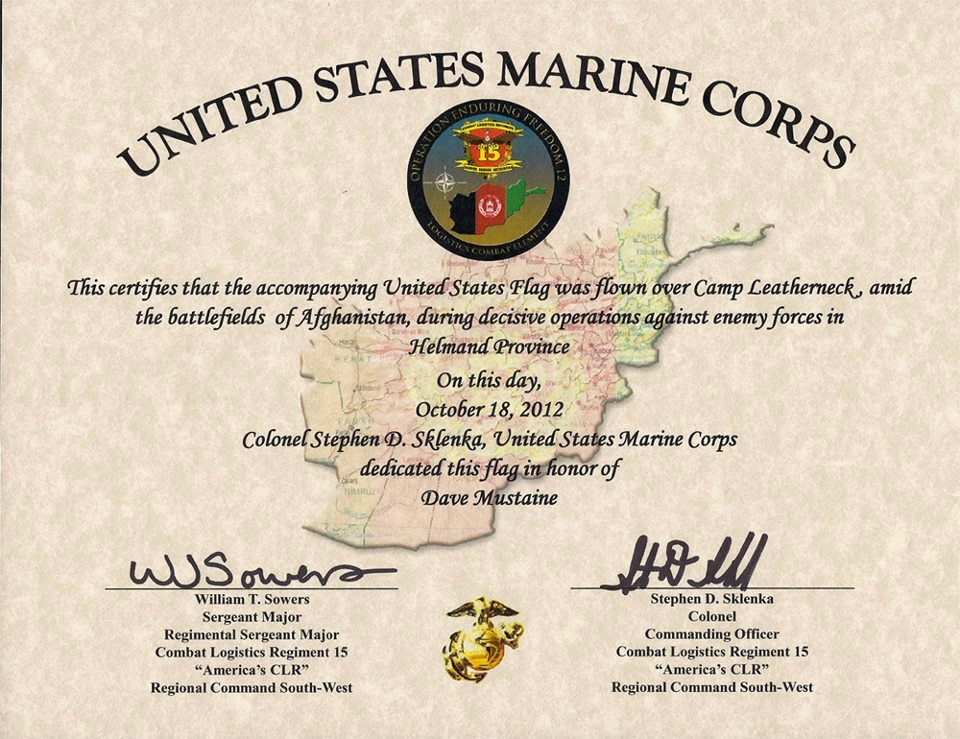 This Flag Was Flown Certificate Template Elegant 30 Of Flag Flown Template