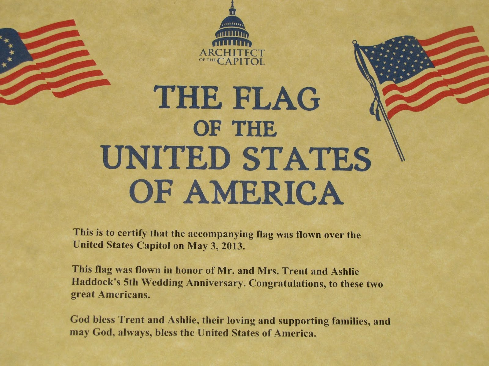 This Flag Was Flown Certificate Template Inspirational 30 Of Flag Flown Template