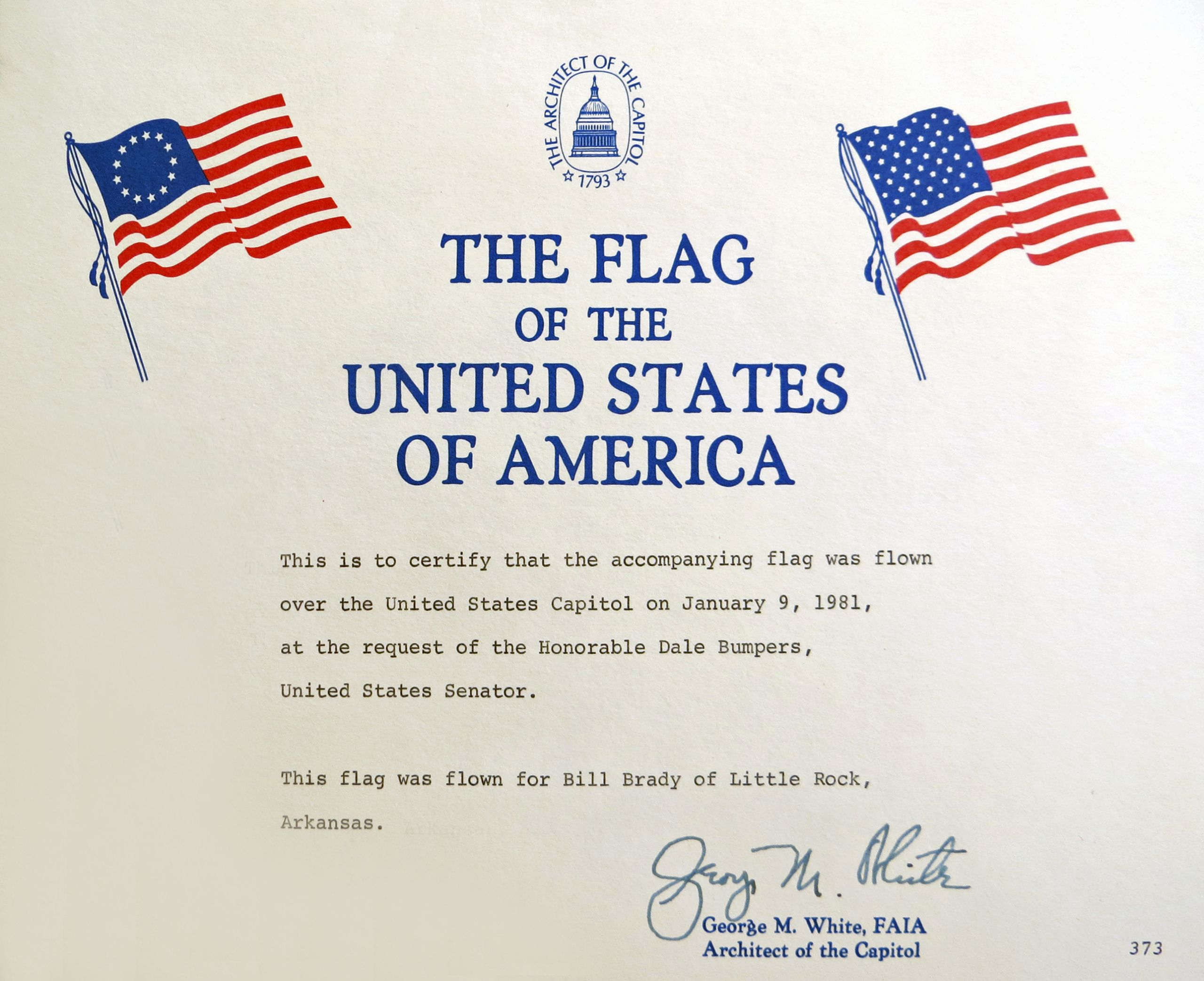 This Flag Was Flown Certificate Template New News Wedgewood