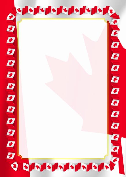 This Flag Was Flown Certificate Template New top 60 Canadian Border Clip Art Vector Graphics and