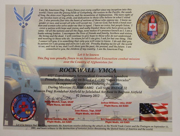 This Flag Was Flown Certificate Template Unique after 10 000 Mile Journey Us Flag is Presented to Ymca
