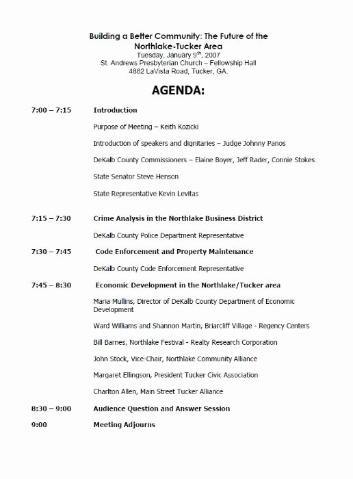 Town Hall Meeting Agenda Sample Elegant Hendersonroad northlake Tucker Meeting Flyer