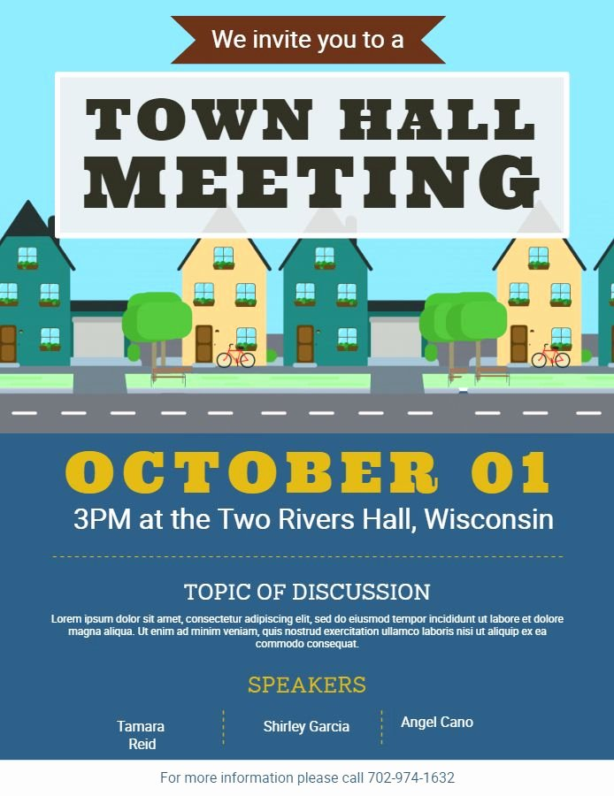 Town Hall Meeting Agenda Sample Luxury town Hall Munity Meeting Announcement Flyer Poster