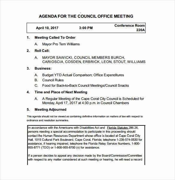 Town Hall Meeting Agenda Template Best Of 51 Meeting Agenda Templates Pdf Doc