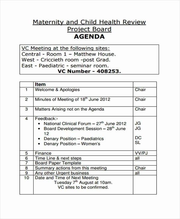 Town Hall Meeting Agenda Template Elegant Free 9 Board Agenda Examples & Samples In Pdf