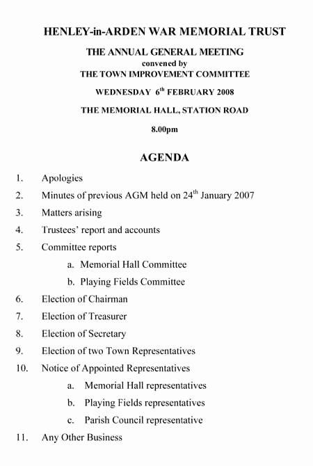 Town Hall Meeting Agenda Template Fresh Henley News Henley In Arden Warwickshire