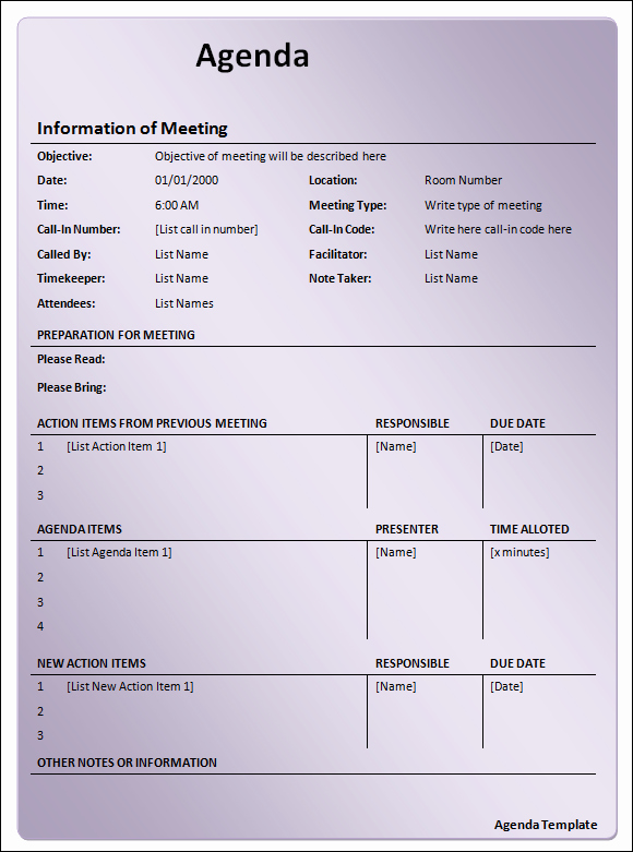 Town Hall Meeting Agenda Template Lovely 27 Of City Meeting Agenda Template