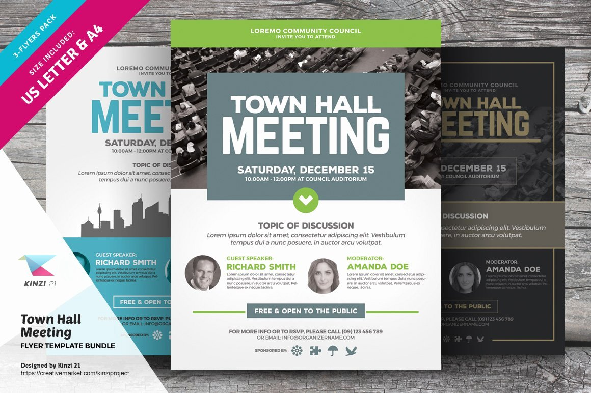 Town Hall Meeting Agenda Template Unique town Hall Meeting Flyer Bundle Flyer Templates