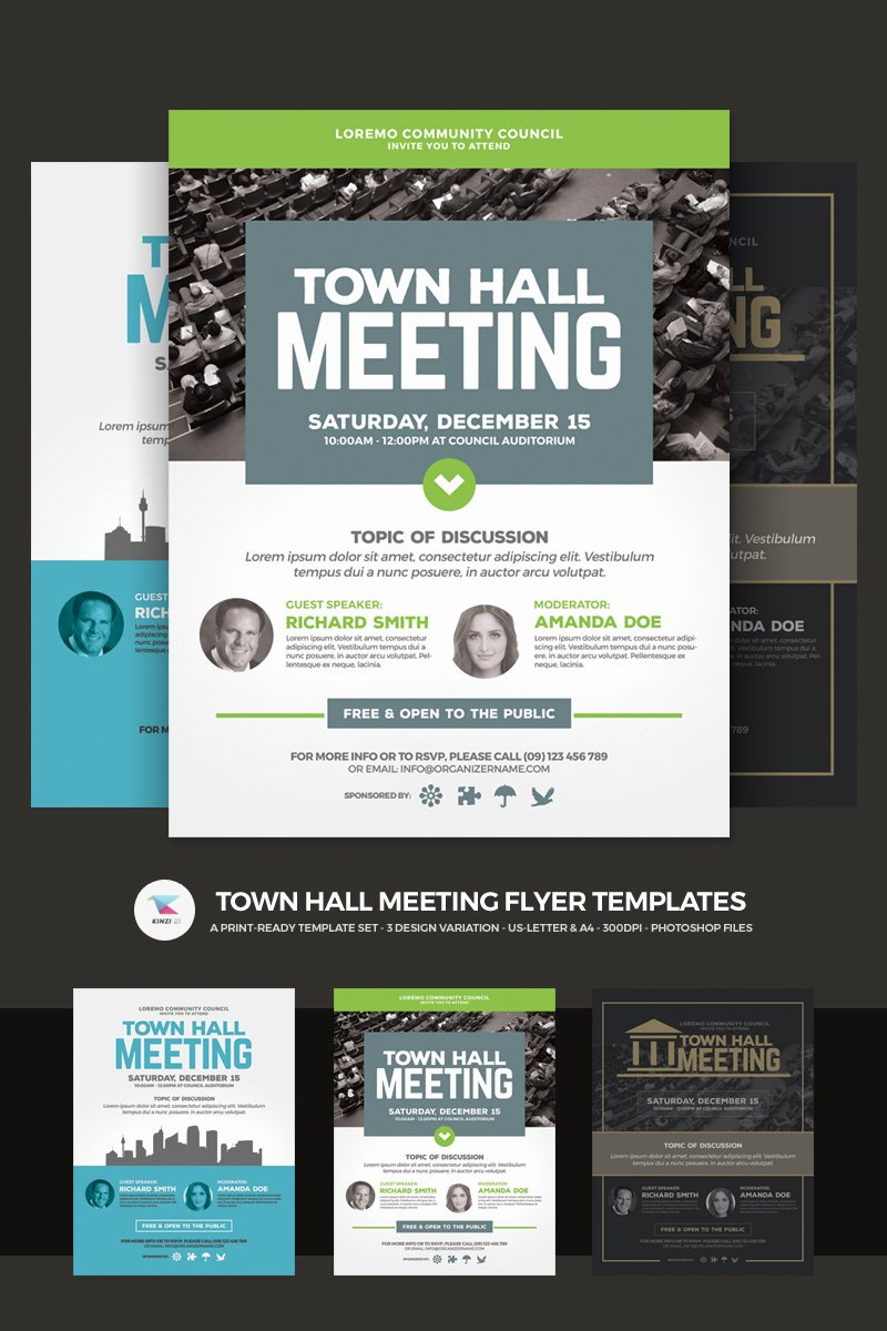 Town Hall Meeting Template Awesome town Hall Meeting Flyer Psd Template