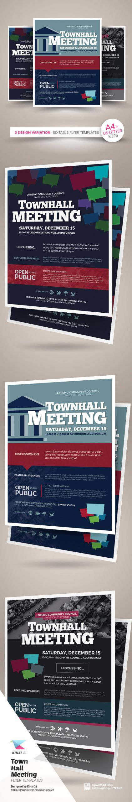 Town Hall Meeting Template Awesome town Hall Meeting Flyer Templates On Behance