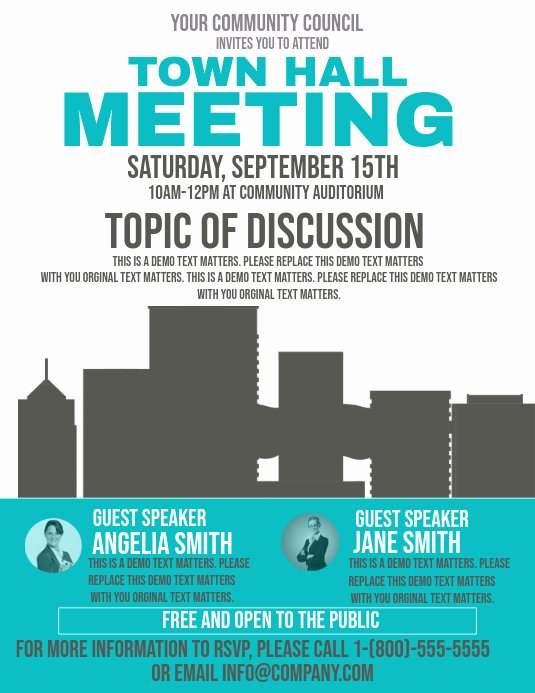 Town Hall Meeting Template Awesome town Hall Meeting Template