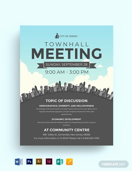 Town Hall Meeting Template Best Of town Hall Meeting Flyer Template Word Psd