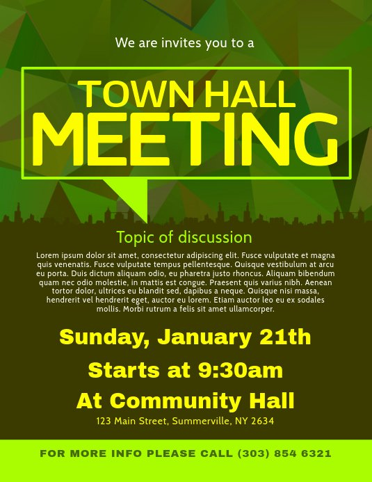 Town Hall Meeting Template Lovely Copy Of town Hall Meeting Flyer