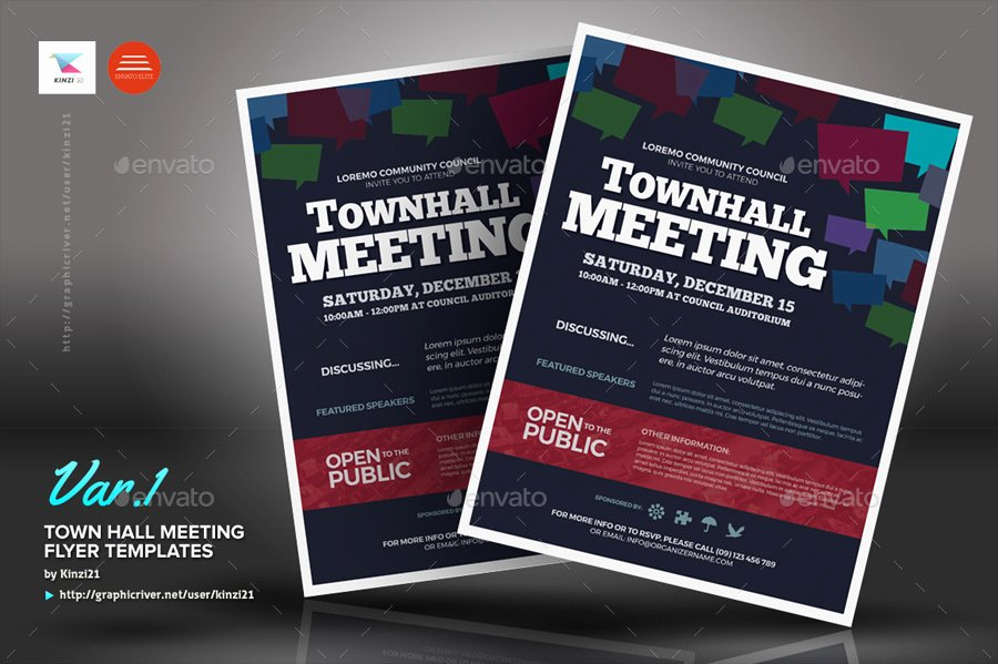 Town Hall Meeting Template Luxury town Hall Meeting Flyer Templates by Kinzi21