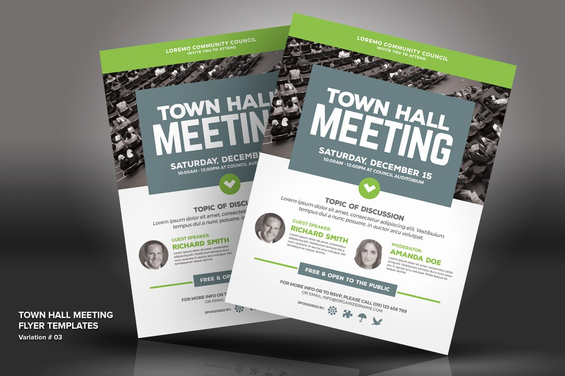 Town Hall Meeting Template New town Hall Meeting Flyer Psd Template