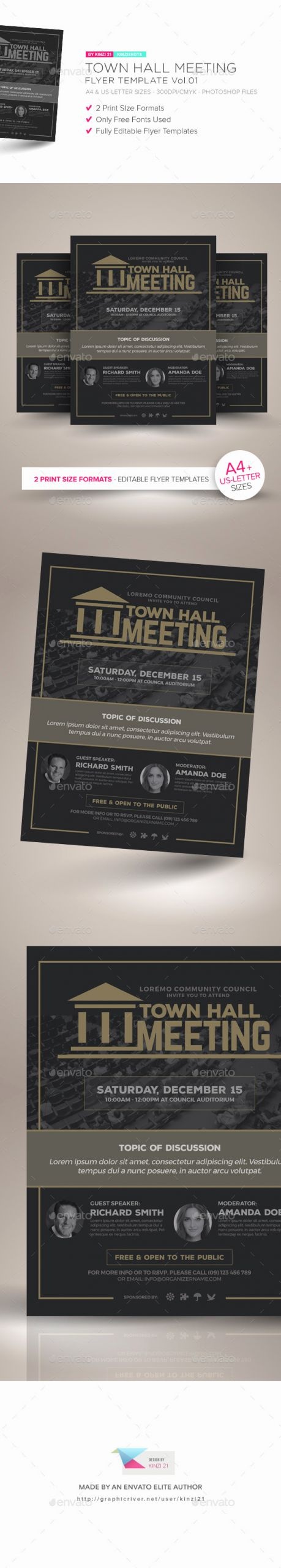 Town Hall Meeting Template New town Hall Meeting Flyer Vol 01 by Kinzishots