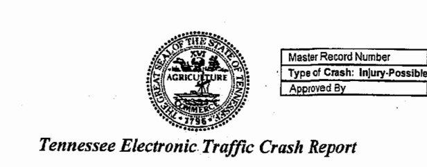 Traffic Accident form Unique Nashville Auto Accident Lawyers