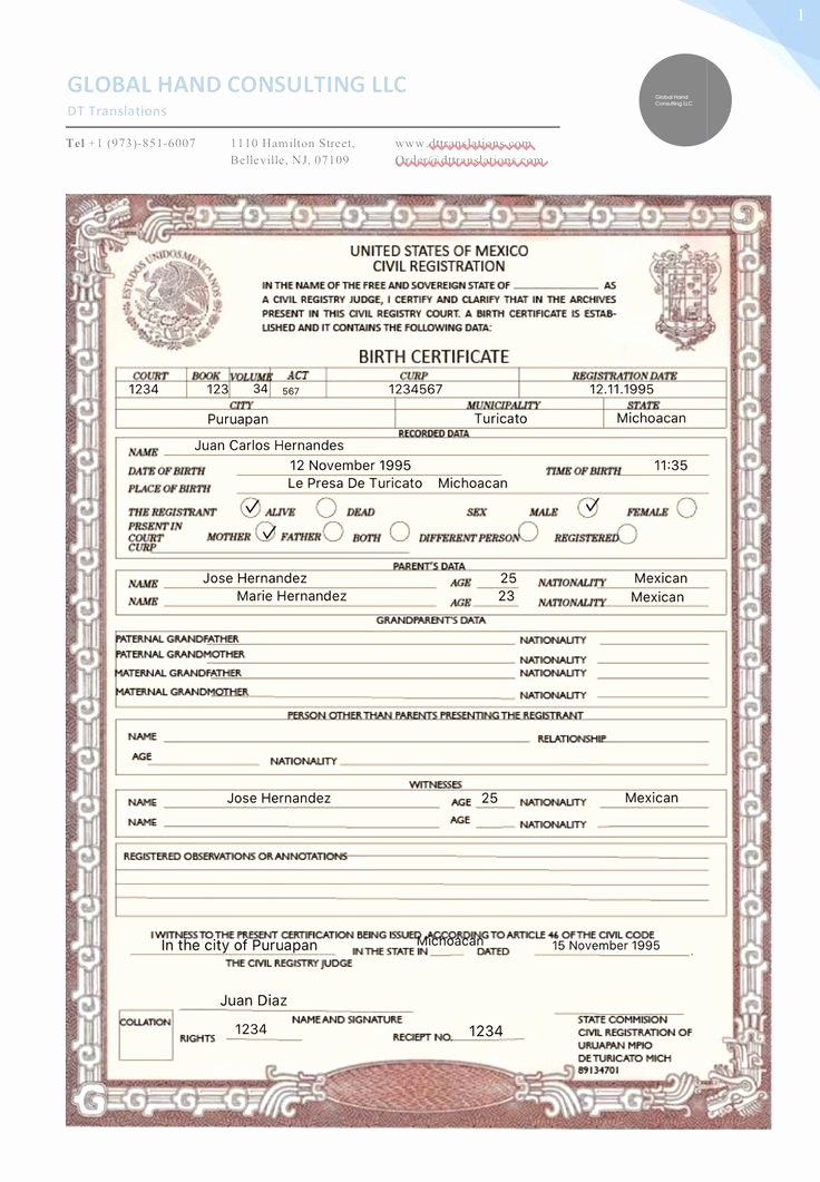 Translate Marriage Certificate From Spanish to English Template Unique 13 Fresh Mexican Marriage Certificate Translation Template