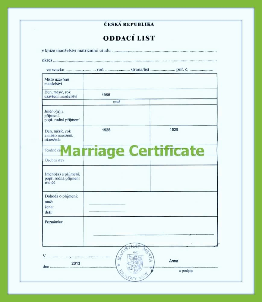 Translating A Birth Certificate From Spanish to English Template New Wedding Certificate Translated Into English