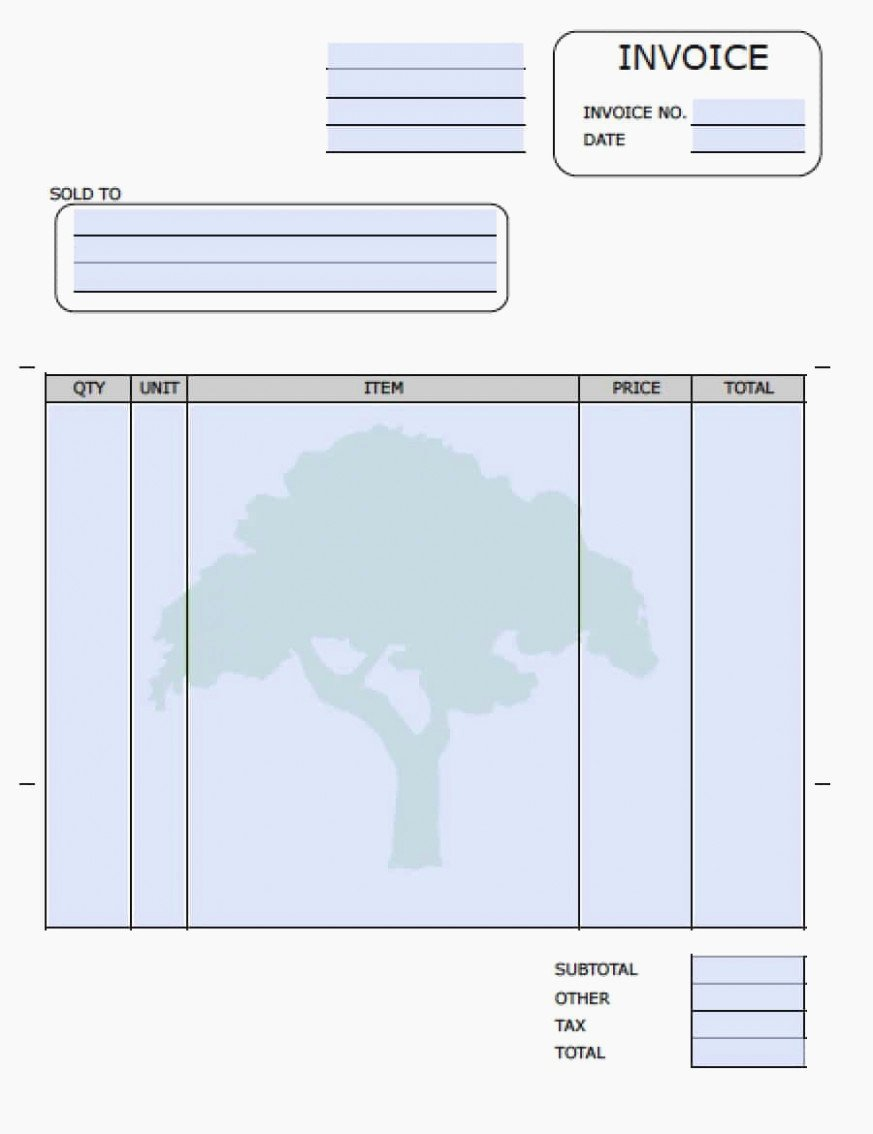 Tree Service Invoice Template Beautiful Five Things You Won T Miss