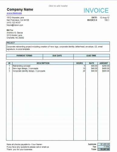 Tree Service Invoice Template Elegant Tree Service Invoice
