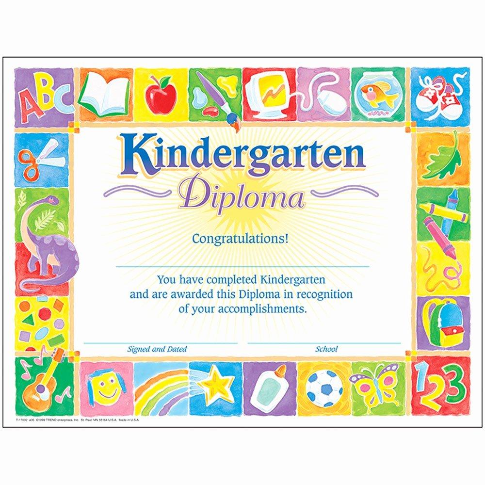 Trend Enterprises Certificate Template Elegant Classic Diploma Kindergarten 30pk 8 1 2 X 11 T