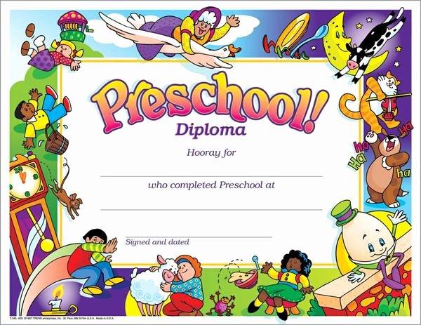 Trend Enterprises Certificate Template Elegant Trend Enterprises Preschool Diploma Pk K Certificates