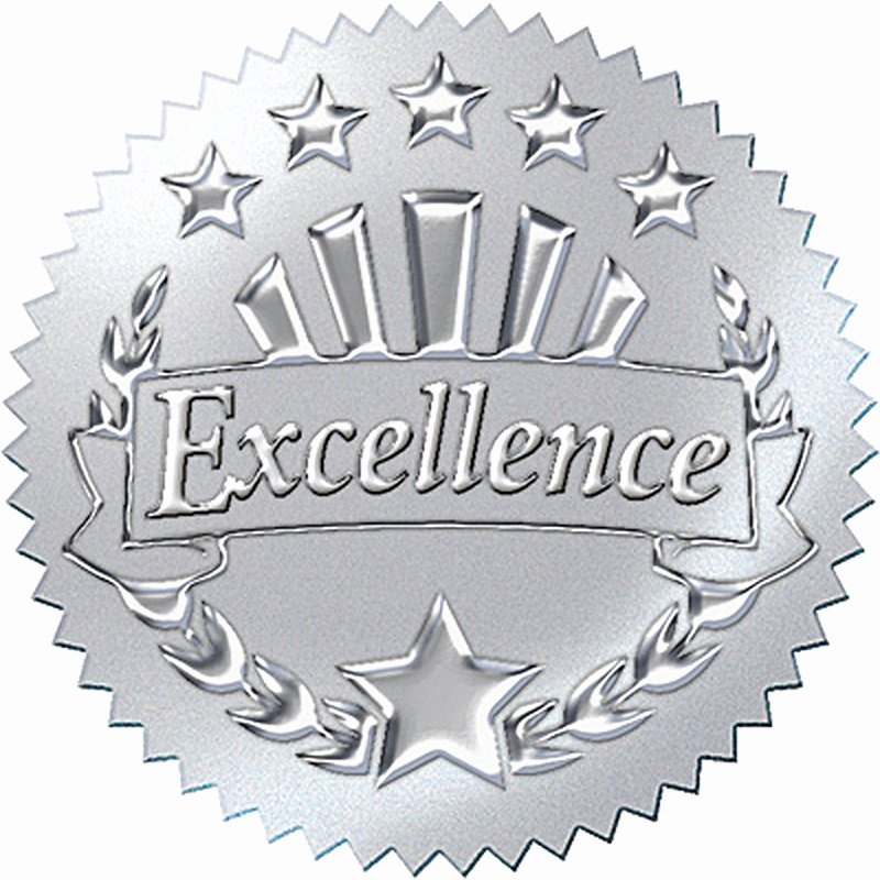 Trend Enterprises Certificate Template Luxury Award Seal Excellence Silver Awards & Certificates