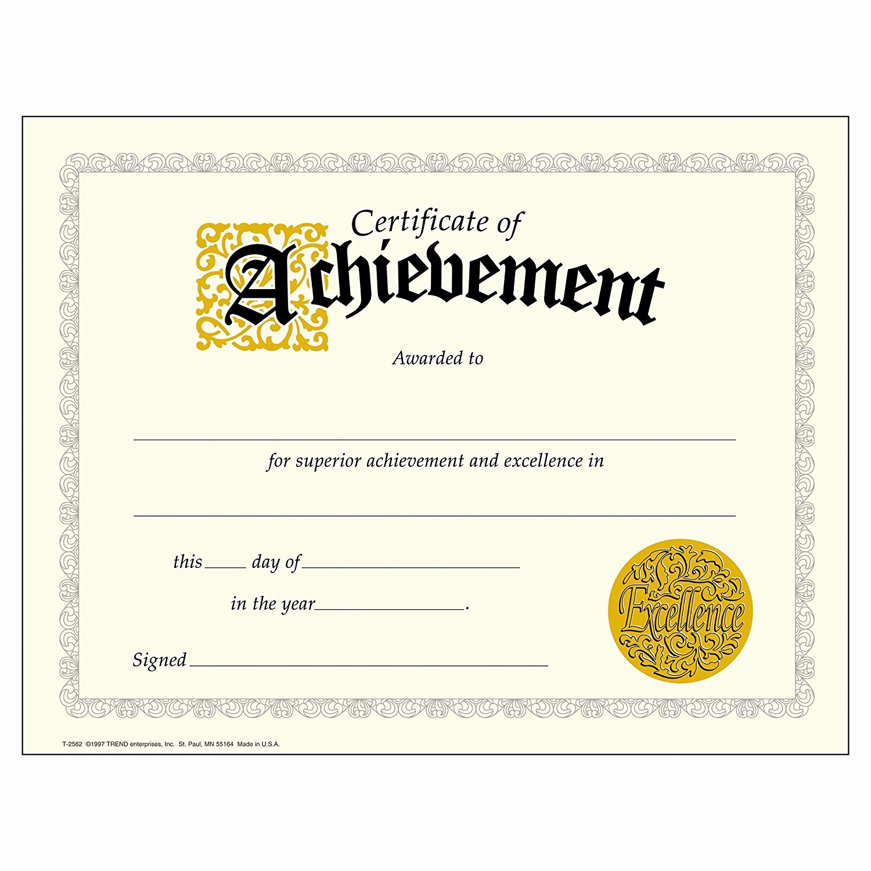 Trend Enterprises Certificate Template Luxury Certificate Achievement