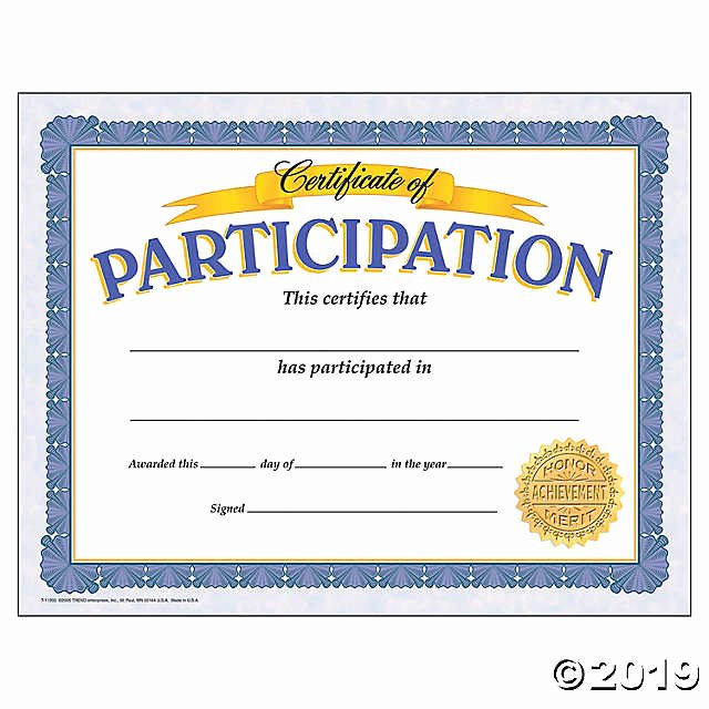 Trend Enterprises Certificate Template Unique Certificate Of Participation