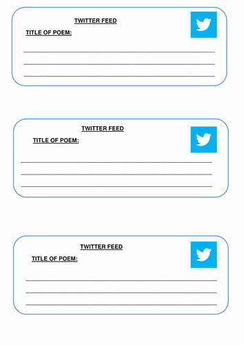 Twitter Template for Students Printable Awesome Twitter Feed by Caraj118