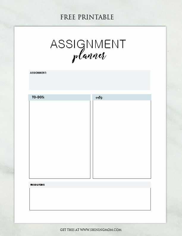 Twitter Template for Students Printable Fresh Free assignment Planner for Kids and Teens Fun and Cute