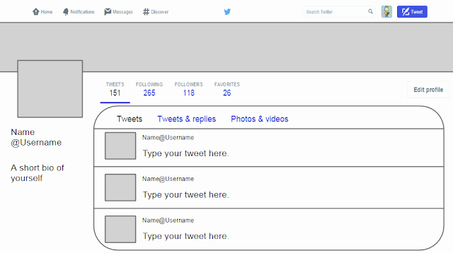 Twitter Template for Students Printable Lovely Twitter Template