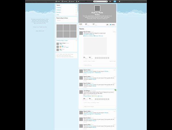 Twitter Template for Students Printable Luxury Free Twitter Psd Template Creative Beacon