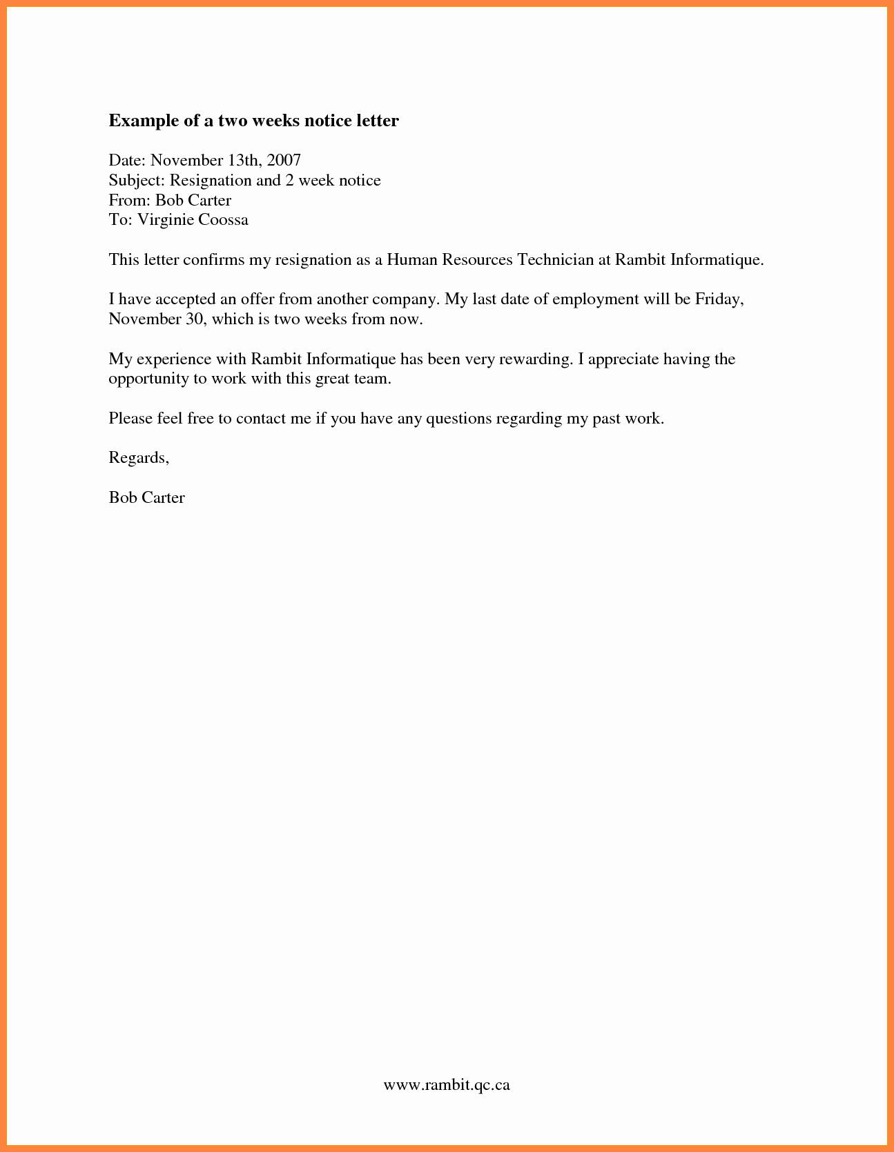 Two Weeks Notice for Retail Luxury 6 2 Week Notice Letter for Retail