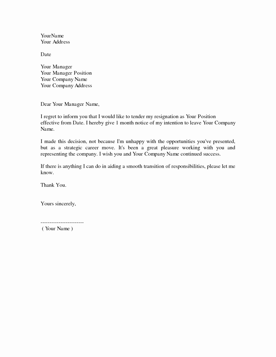 Two Weeks Notice for Retail Luxury Two Weeks Notice form Resignation Letter Sample 2 Wnotice