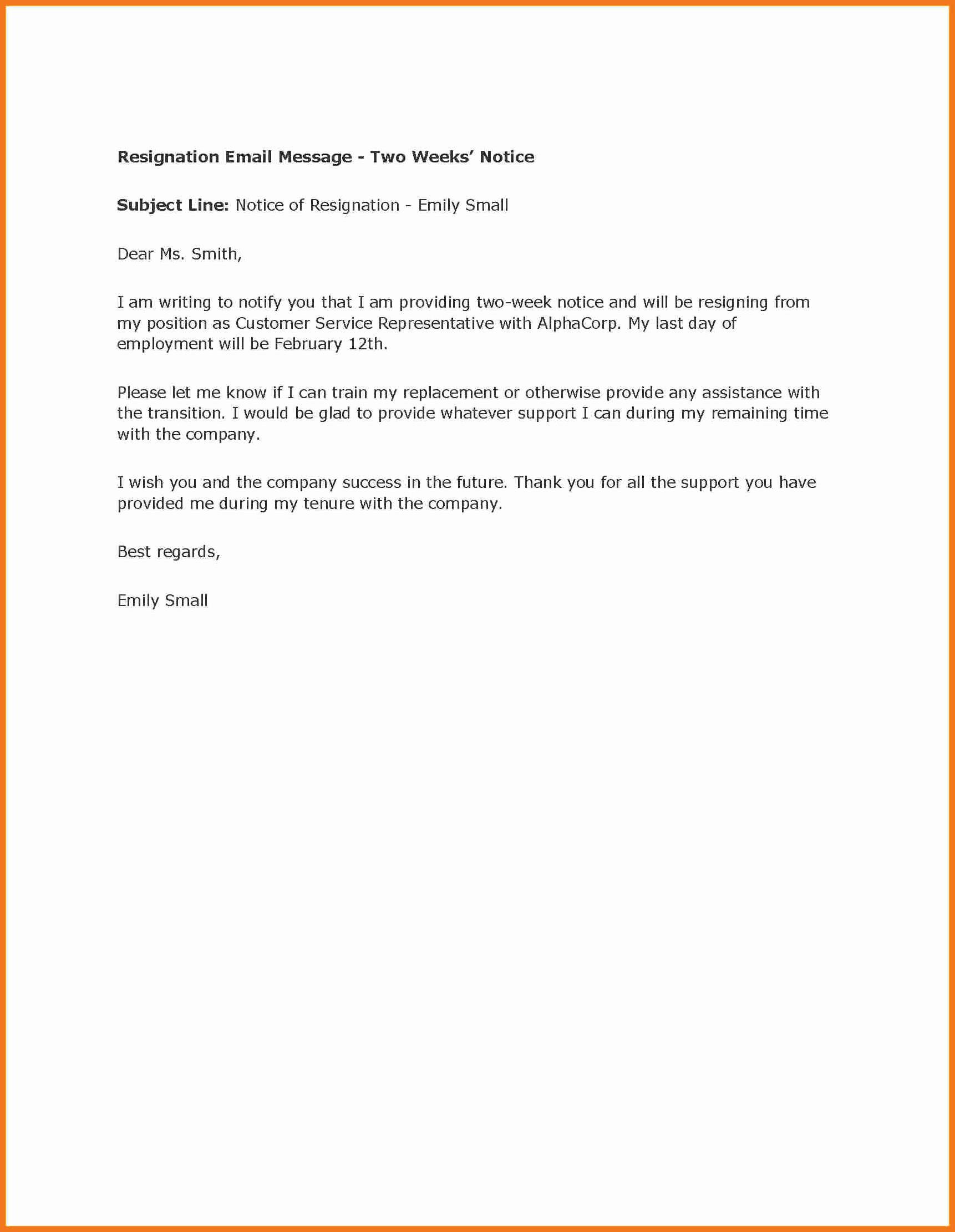 Two Weeks Notice Template Retail Beautiful 6 7 Two Weeks Notice Letter Retail