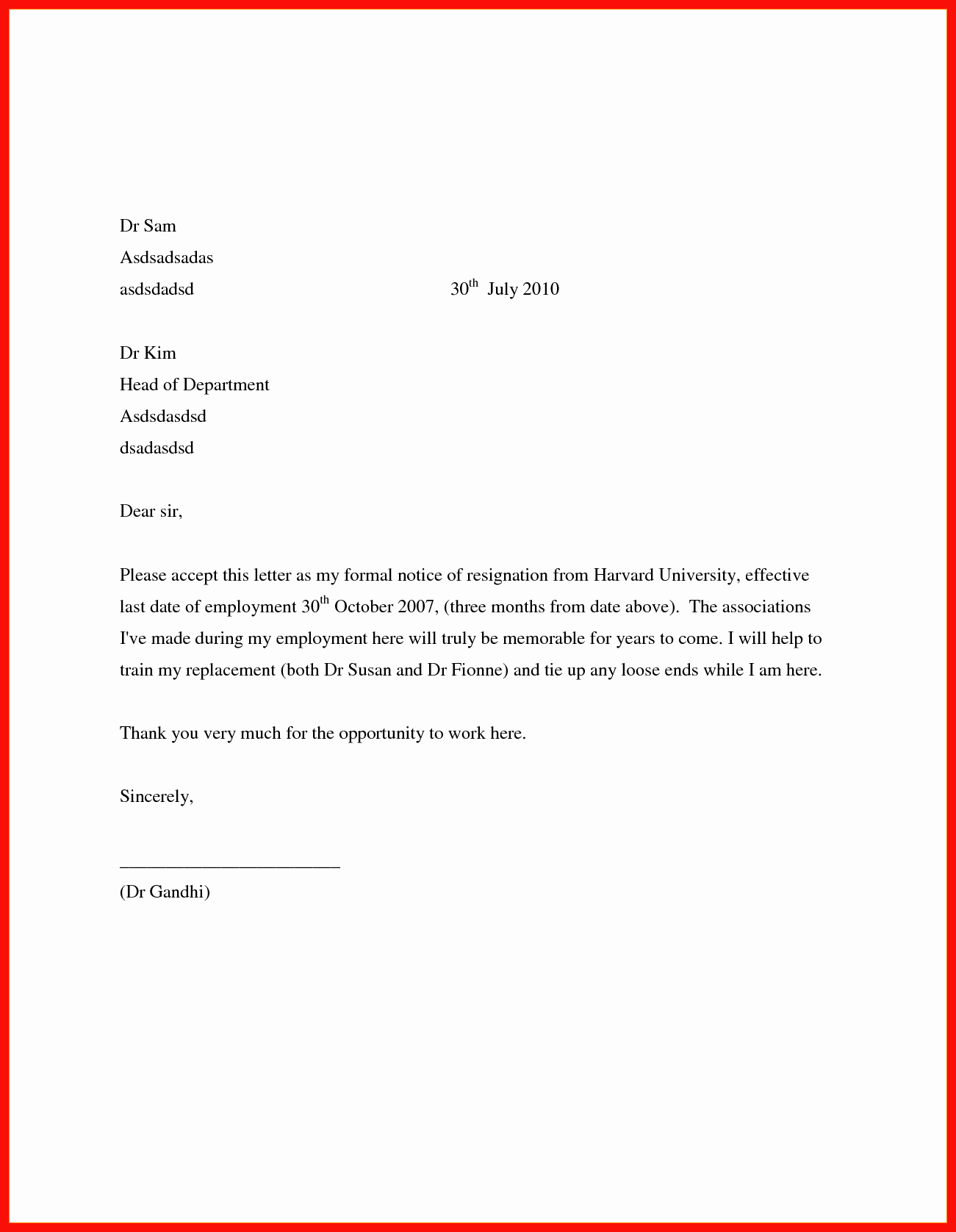 Two Weeks Notice Template Retail Best Of Employment Notice Template