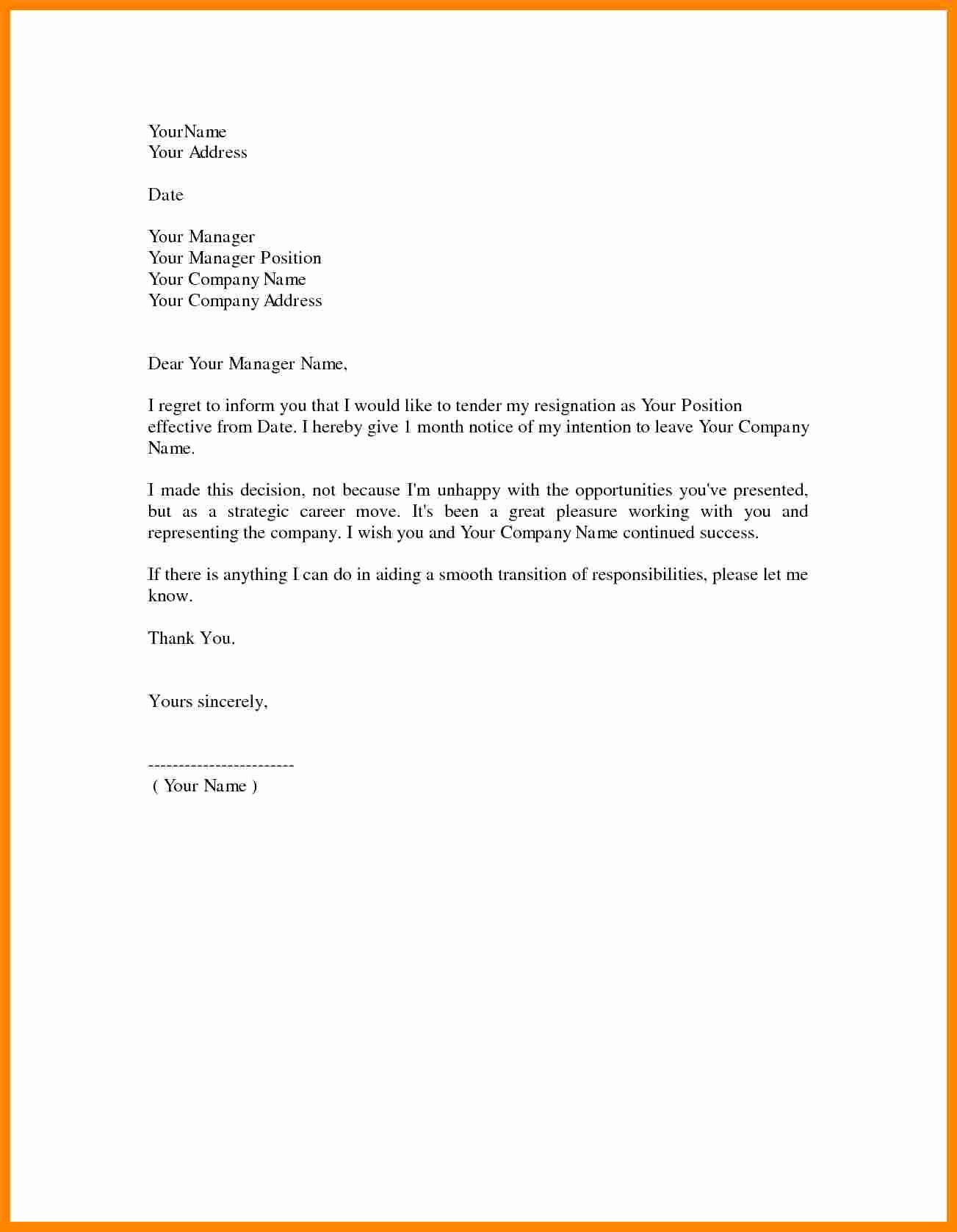 Two Weeks Notice Template Retail New 8 Letter Of Resignation 2 Weeks Notice Nurse