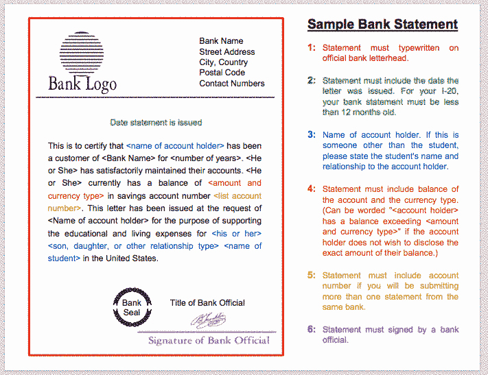 U Visa Personal Statement Sample Awesome Bank Statement for Graduate School Admissions In the U S