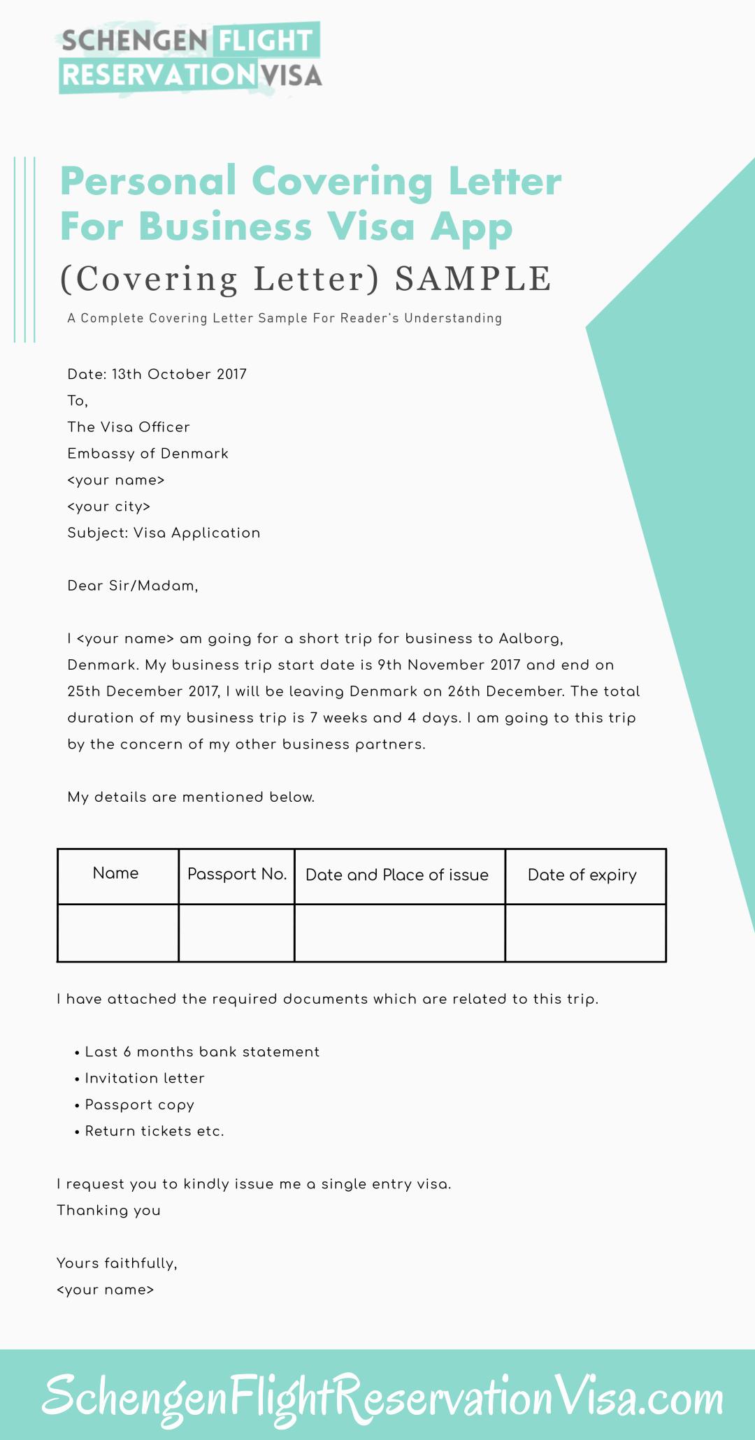 U Visa Personal Statement Sample Elegant Personal Covering Letter Guide and Samples for Visa